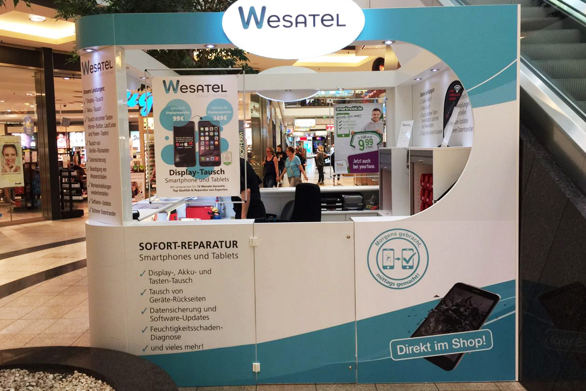 Wesatel Shopping Mall Franchise Konzept